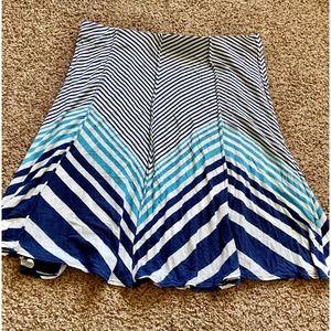 Studio M women XL blue skirt